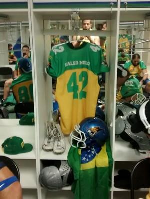Kaléo Melo, futebol americano, Brasil, Caçadores (Foto: Kaléo Melo/Arquivo Pessoal)