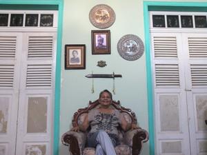 Na casa dos Brasil, portas e pisos são os mesmos desde a construção da residência em 1888 (Foto: Inaê Brandão/G1 RR)