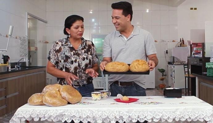 Será que Marli vai revelar a receita do pão de queijo gigante? (Foto: Divulgação | Tô Indo)