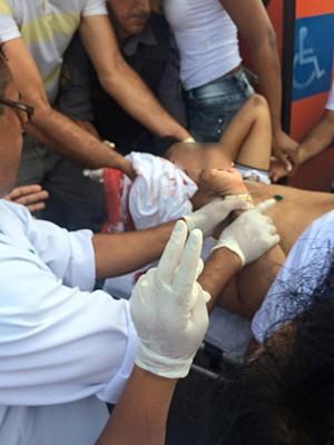 Estudante é baleado dentro de ônibus, em São Luís (MA) (Foto: Reprodução / TV Mirante)