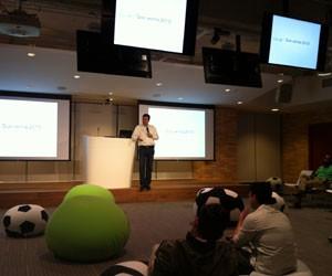Diretor-geral do Google no Brasil, Fábio Coelho, inaugura a nova sede da empresa em São Paulo. (Foto: Amanda Demetrio/G1)