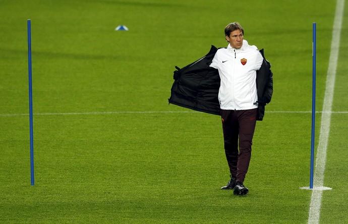 Rudi Garcia técnico treino Roma x Barcelona (Foto: Reuters)
