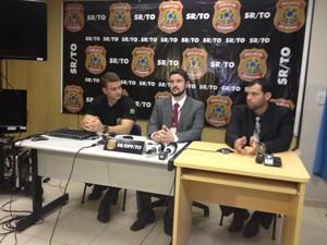 Delegados fizeram coletiva de imprensa para falar sobra as operações (Foto: Jesana de Jesus/G1)