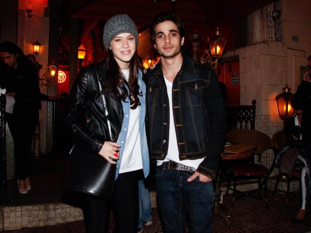 Sophia Abrahão e Fiuk em restaurante em São Paulo (Foto: Marcos Ribas/ Foto Rio News)