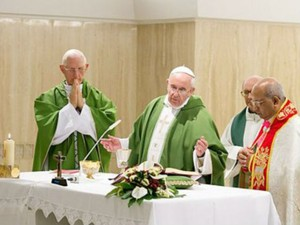 Dom Moacyr Vitti acompanhou o Papa Francisco em audiência na Praça São Pedro (Foto: Divulgação)