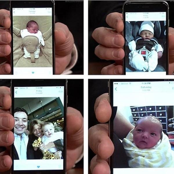 Filha de Jimmy Fallon (Foto: Twitter)