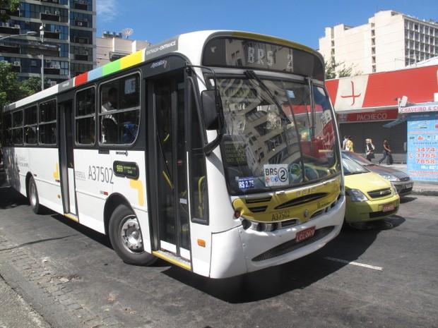 Ônibus da linha 569 percorre bairros da Zona Sul do Rio. (Foto: Mariucha Machado / G1)