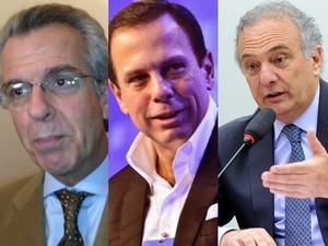 Andrea Matarazzo, João Doria e Ricardo Tripoli (Foto: Letícia Macedo/G1, Divulgação e Lucio Bernardo Junior/Câmara dos Deputados)