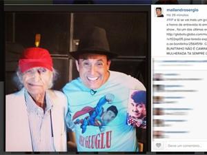 Sergio Mallandro faz homenagem ao ator Jorge Loredo (Foto: Reprodução/Instagram)