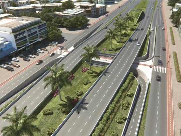 'Telhado verde' promete ser opção sustentável do projeto do metrô na Barra (Foto: Linha 4/Divulgação)