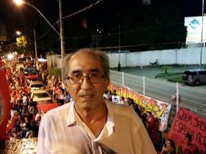 Namy Chequer participou do movimento pró-Dilma (Foto: Caíque Verli/ A Gazeta)