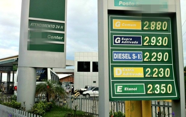 Postos de Combustíveis em Manaus ainda não repassaram os reajustes aos consumidores (Foto: Girlene Medeiros/ G1 AM)