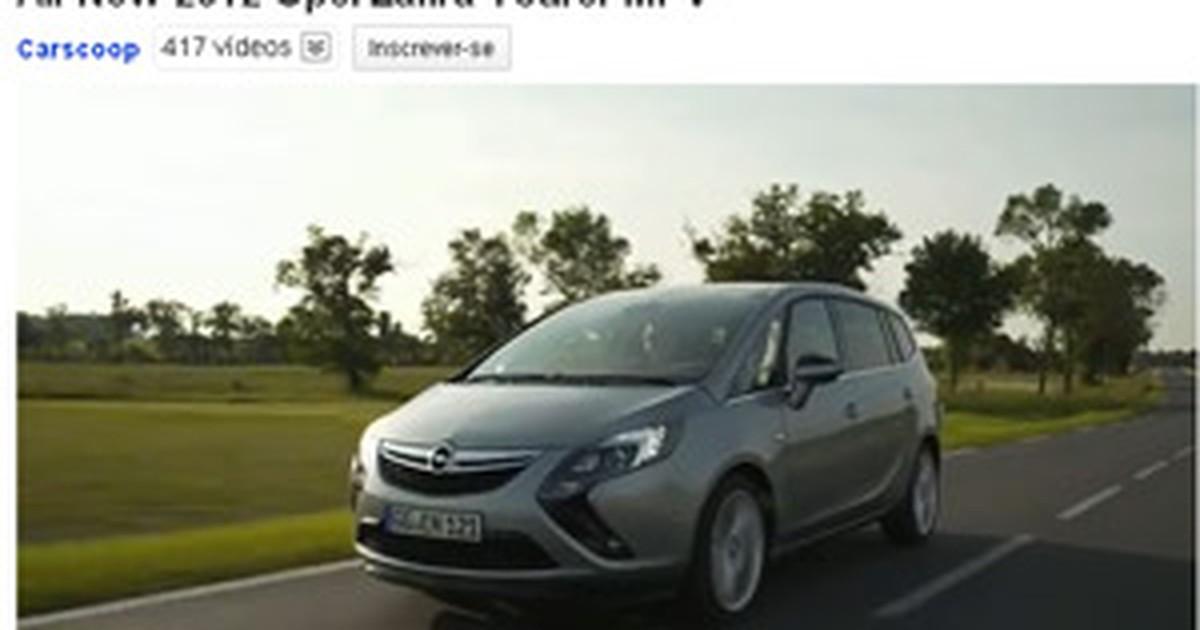 Auto Esporte Vdeo Da Nova Gerao Do Zafira Est Na Internet