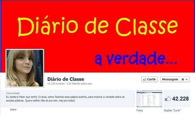 diario de classe (Foto: Reprodução)