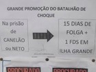 Batalho de Choque do RJ d folga a policiais que prenderem traficantes