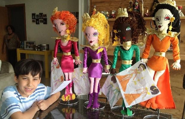 Aos 11, Hector Ângelo Melo Briet de Almeida que já publicou 4 livros sonha alto: 'Quero ganhar o Oscar', em Goiânia, Goiás 3 (Foto: Sílvio Túlio/G1)