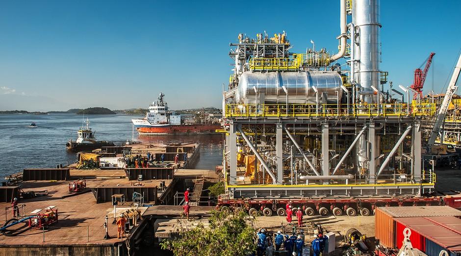 Obra da UTC para a Petrobras. Mau momento da petrolífera atrapalhou construtora (Foto: Divulgação)