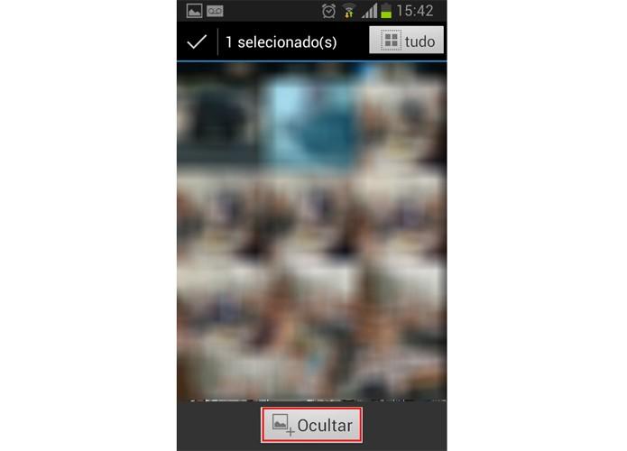 Escolha o conteúdo que deseja guardar e clique no botão marcado (Foto: Reprodução/Paulo Alves)
