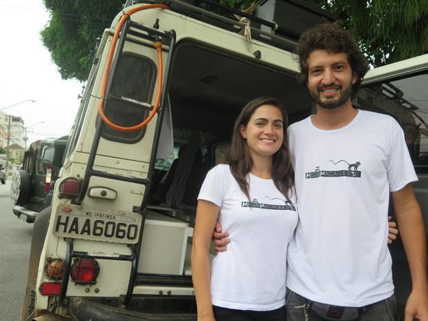 Alice e Lucas irão fazer uma viagem de carro por toda a América (Foto: Mariane Rossi/G1)