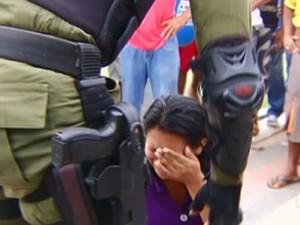 Vítima não quis proceder com denúncia e polícia liberou homem (Foto: Reprodução/TV Tapajós)