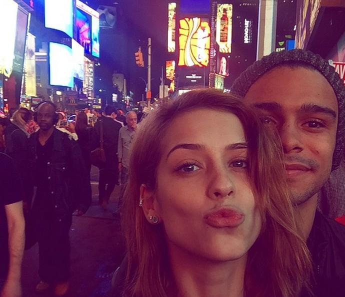 Sophia Abrahão e Sérgio Malheiros foram recentemente para os Estados Unidos (Foto: Arquivo Pessoal)