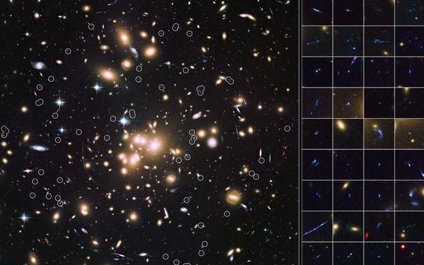 Nasa mostra em destaque as galáxias do universo mais remoto (Foto: Divulgação/NASA)