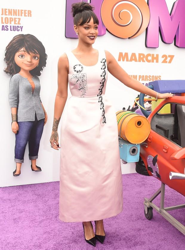 Rihanna em première em Los Angeles, nos Estados Unidos (Foto: Jason Merritt/ Getty Images/ AFP)