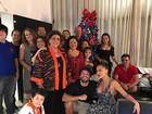 Sabrina Sato e Duda Nagle reúnem as famílias em noite de Natal
