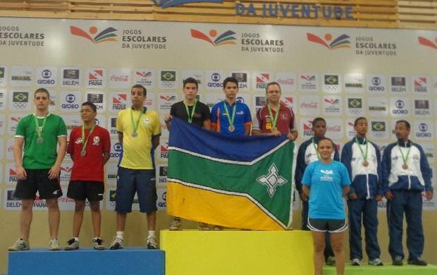 É do tênis de mesa, a primeira medalha de ouro para o AP (Foto: Caio Lobato/Arquivo Pessoal)