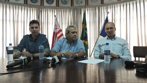 Náutico; Gilmar dal Pozzo; Toninho Monteiro; Alexandre Faria (Foto: Lucas Liausu)