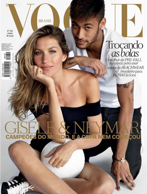 Neymar e Gisele Bundchen (Foto: Mario Testino/VOGUE)