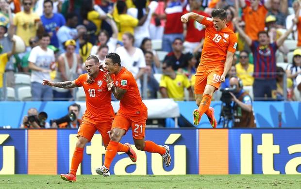 Sneijder Holanda e México (Foto: Agência Reuters)