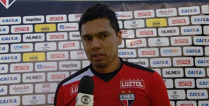 Felipe - goleiro do Atlético-GO (Foto: Reprodução / TV Anhanguera)