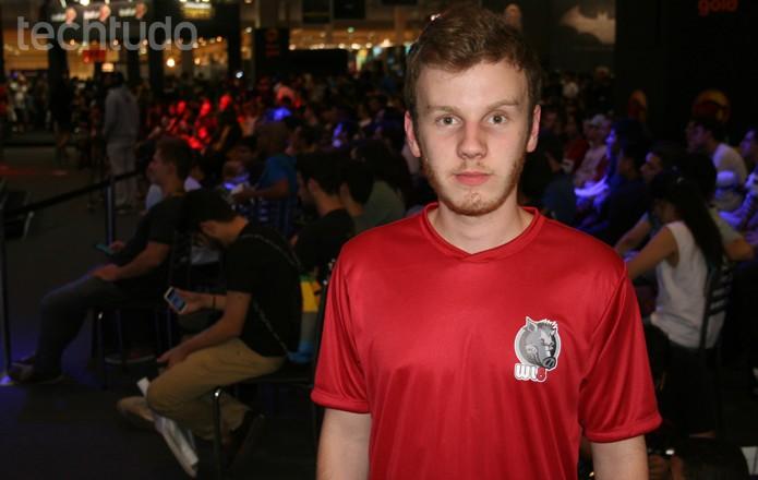 Nathan, de apenas 17 anos, foi um dos vencedores do torneio (Foto: Reprodução/Felipe Vinha)