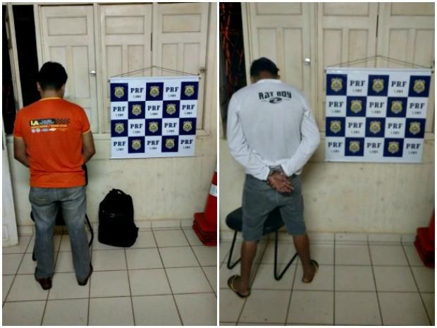 Dois foragidos foram presos na noite da segunda-feira (30) em Xapuri (Foto: Divulgação/PRF-AC)