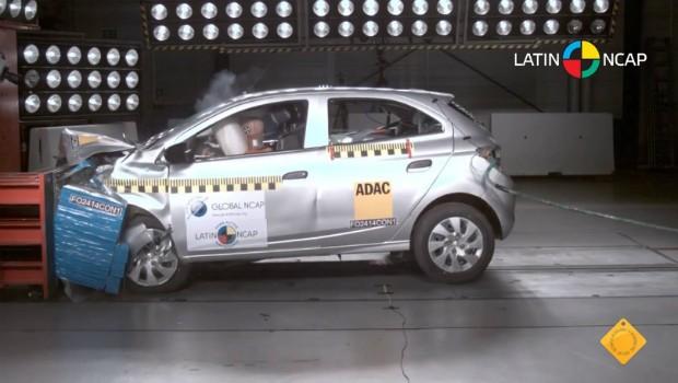 Crash test do Chevrolet Onix (Foto: Reprodução)