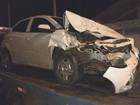 Homem com sinais de embriaguez foge na contramão e bate em veículo