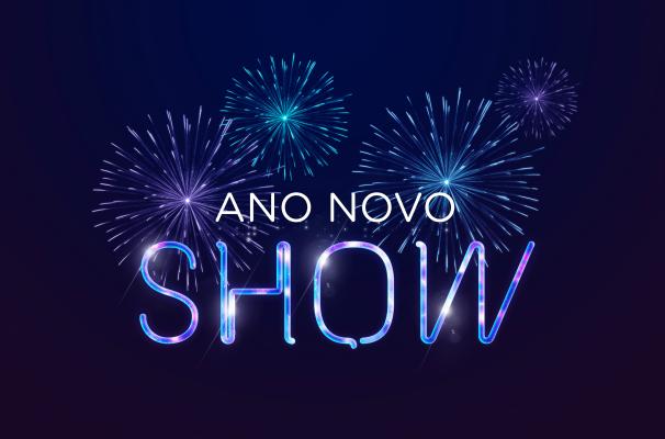 O Virada Show celebra a passagem de ano com um espetáculo de luzes no céu (Foto: Reprodução/TV TEM)