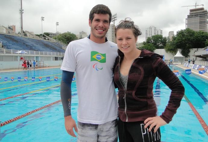 natação paralímpica Phelipe Rodrigues namorada (Foto: Helena Rebello)