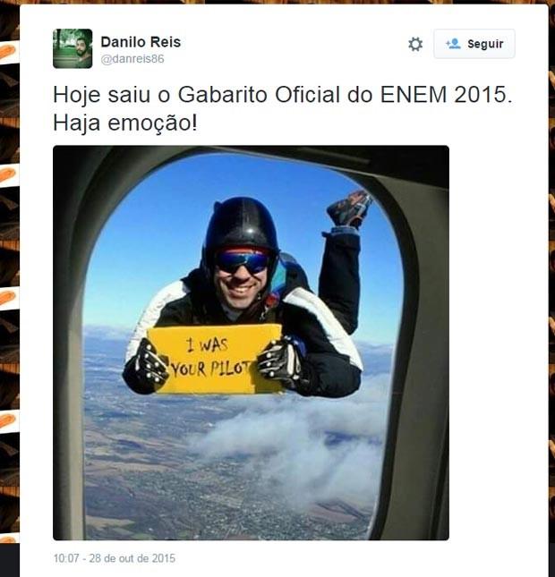 Enem 2015 - divulgação do gabarito ganha memes e lamentos no Twitter. (Foto: Reprodução/Twitter)