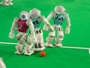 Competições de robótica na USP de São Carlos vão até quarta-feira (Foto: Valdecir Becker / Divulgação)