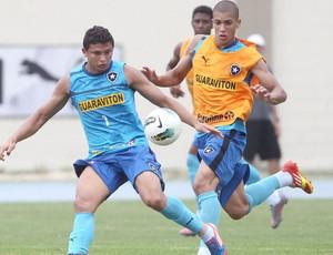 Elkeson e Doria, Botafogo (Foto: Ivo Gonzalez / Agência O Globo)