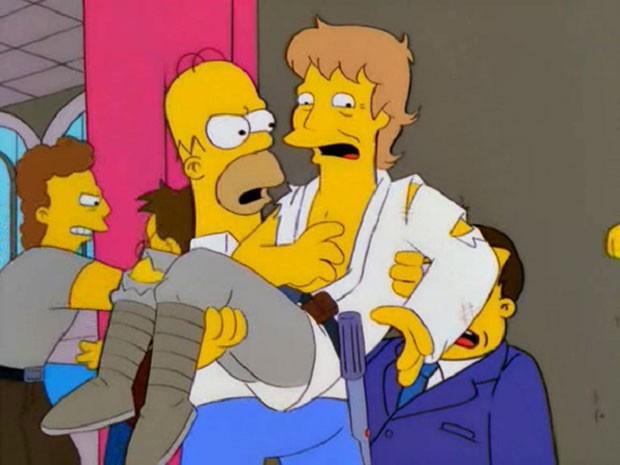 Mark Hamill durante sua participação em 'Os Simpsons' (Foto: Divulgação)