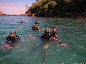Um dos locais de mergulho é a Praia da Sepultura (Foto: Patadacobra/divulgação)