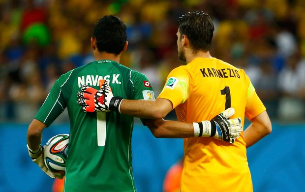 Navas e Karnezis Costa Rica x Grécia (Foto: Reuters)