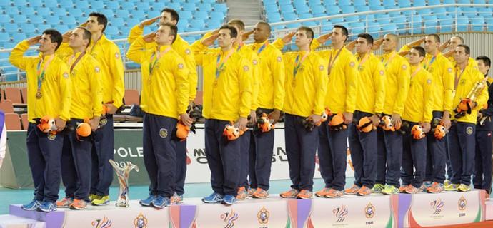 vôlei masculino Brasil campeão Jogos Mundiais Militares (Foto: Felipe Barra)