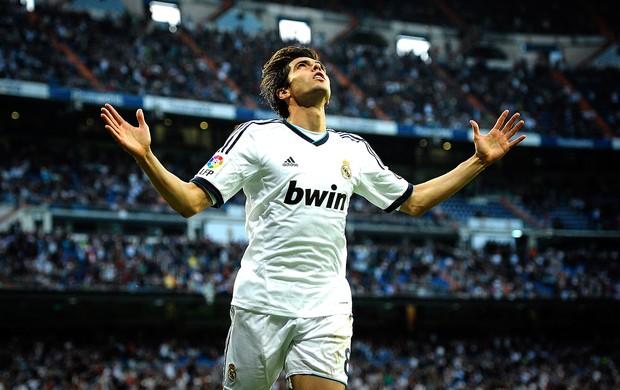 Kaká comemoração gol Real Madrid Real Valladolid (Foto: AFP)