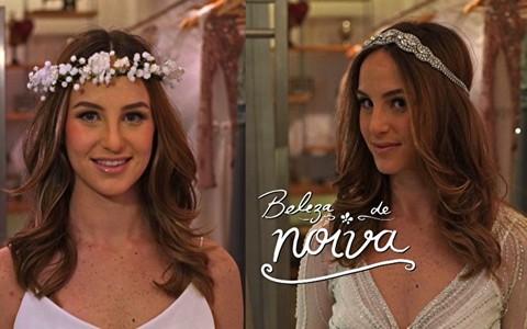 Noivas românticas: coroas de flores e headbands substituem o véu