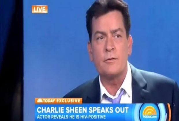 Charlie Sheen anuncia ao Today, da NBC, que é portador do vírus HIV (Foto: NBC / Reprodução)