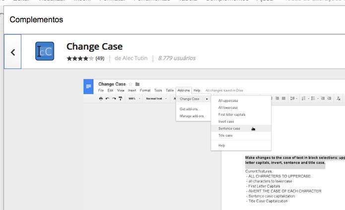 Instale Change Case e adicione a conversão de letras no Google Docs (Foto: Divulgação) (Foto: Instale Change Case e adicione a conversão de letras no Google Docs (Foto: Divulgação))